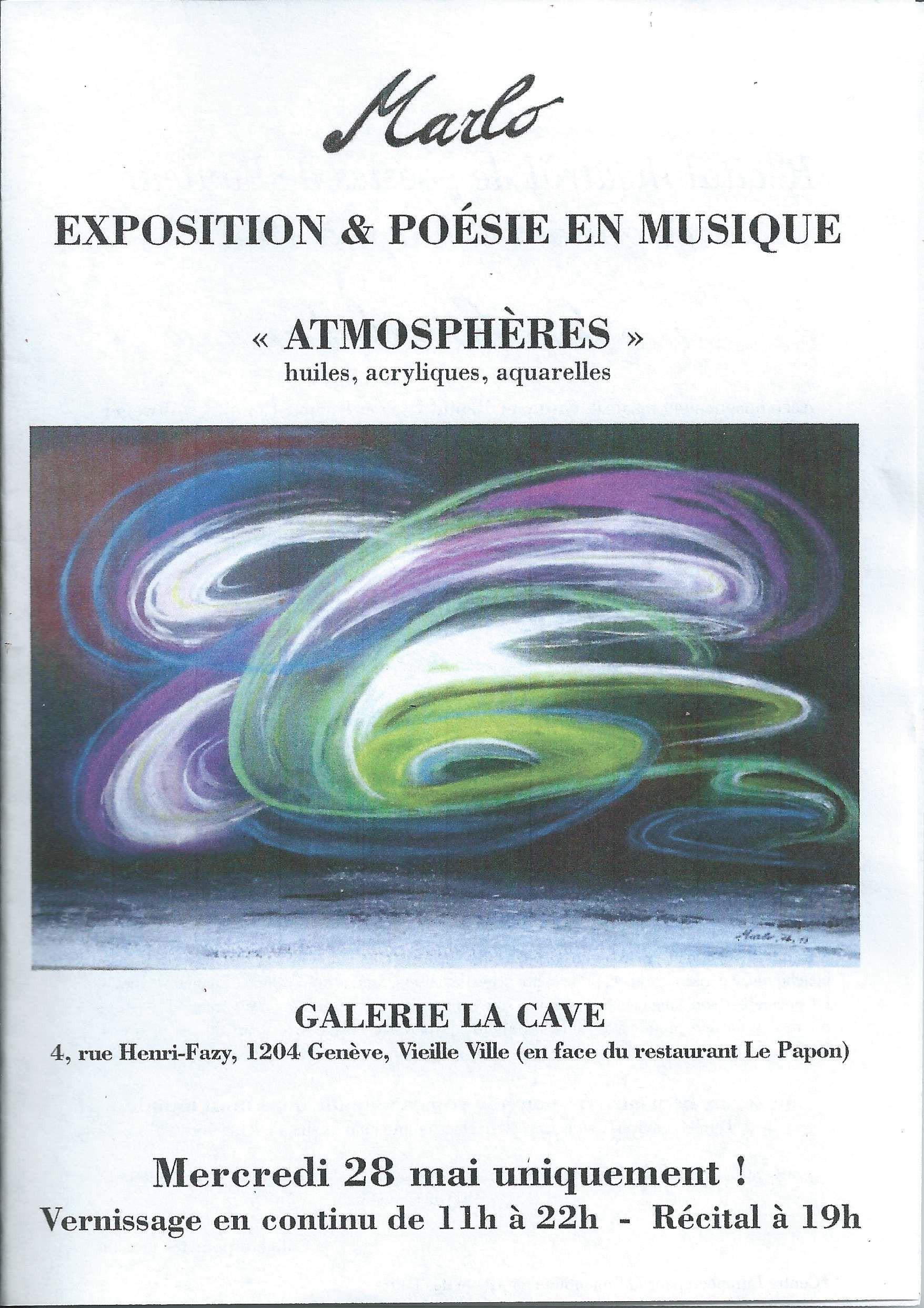 Exposition-Récital La CAVE. 20.03.2014