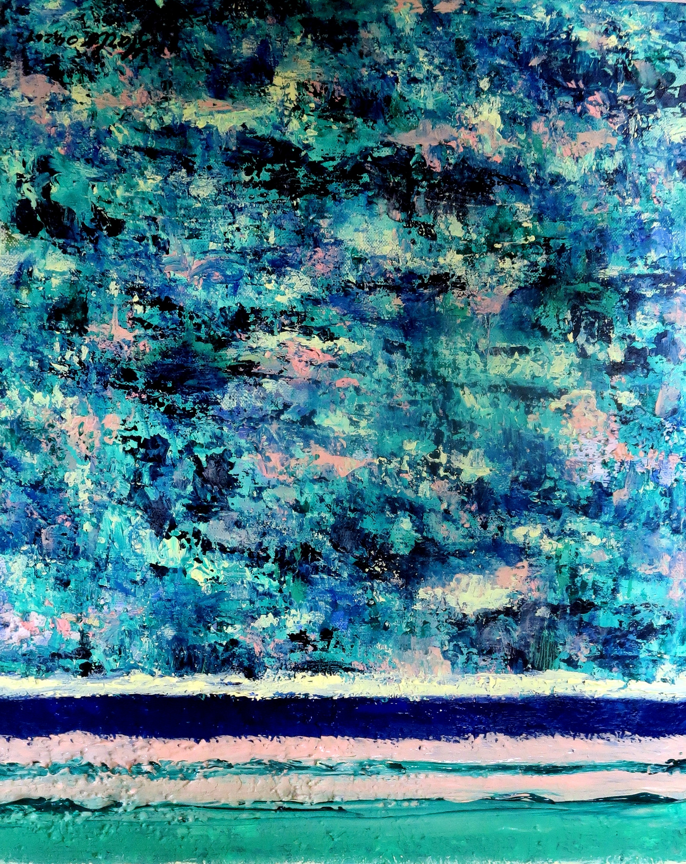 Lovely Tchit-tchat. 1. 04.04.2016. 50-40 cm. Acrylique structuré, three layers, palette knife, brush