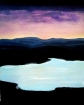 Twilight on the lake, acrylic. 70 h cm - 60 L cm, 2cm.
