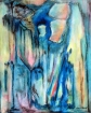 The Baroc trumpet. Acrylic. 50 cm H x 40 cm W, 20.02.2018