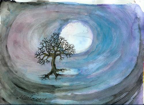 Solitude ou Pleine lune 24/30 cm