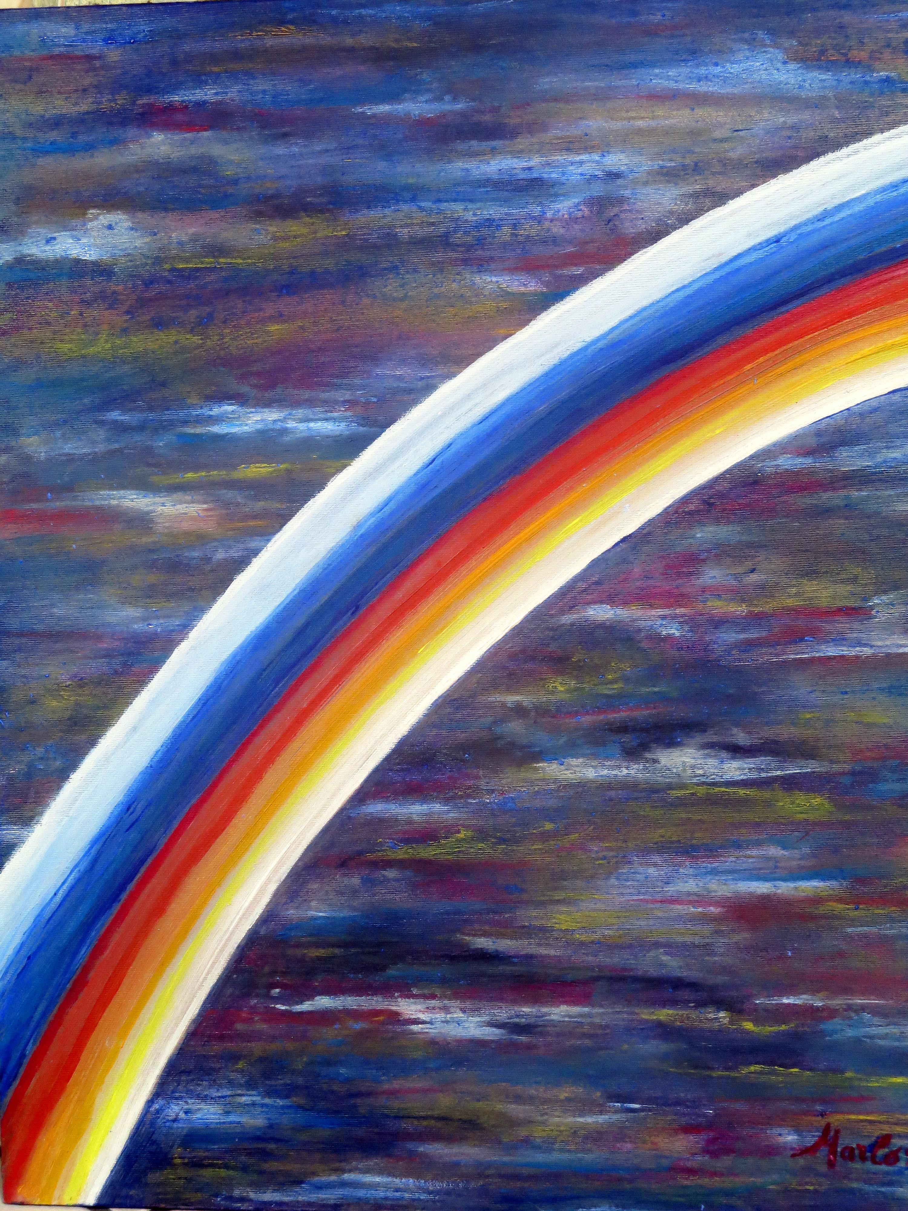 Arc-en-ciel, huile/ Acrylique 11.2013. 60/50cm
