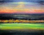 Horizon-3-2013, Lumières de la villeAcrylique 40/30cm sur toile