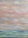 L\'embrasement cu ciel 80/80cm ciel, mer Vendu et terre VENDU frs 1.800,--