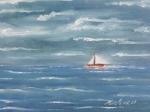 Petit bateau sur l\'eau 30/40cm Vendu