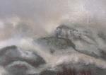 Brumeux 70/60cm peinture aux spray 1990