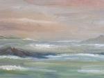 L\'embrasement du ciel - détail - les îles 80cm/80
