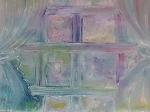 La-fenêtre sur chatoiements de lilac 50/40cm