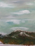 Premiere neige 50/40cm peinture hyperréaliste