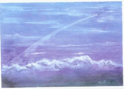 Ciel d\'hiver, pastel