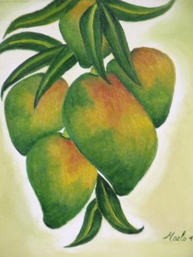 Mangues, huile sur toile, 30/30 cm