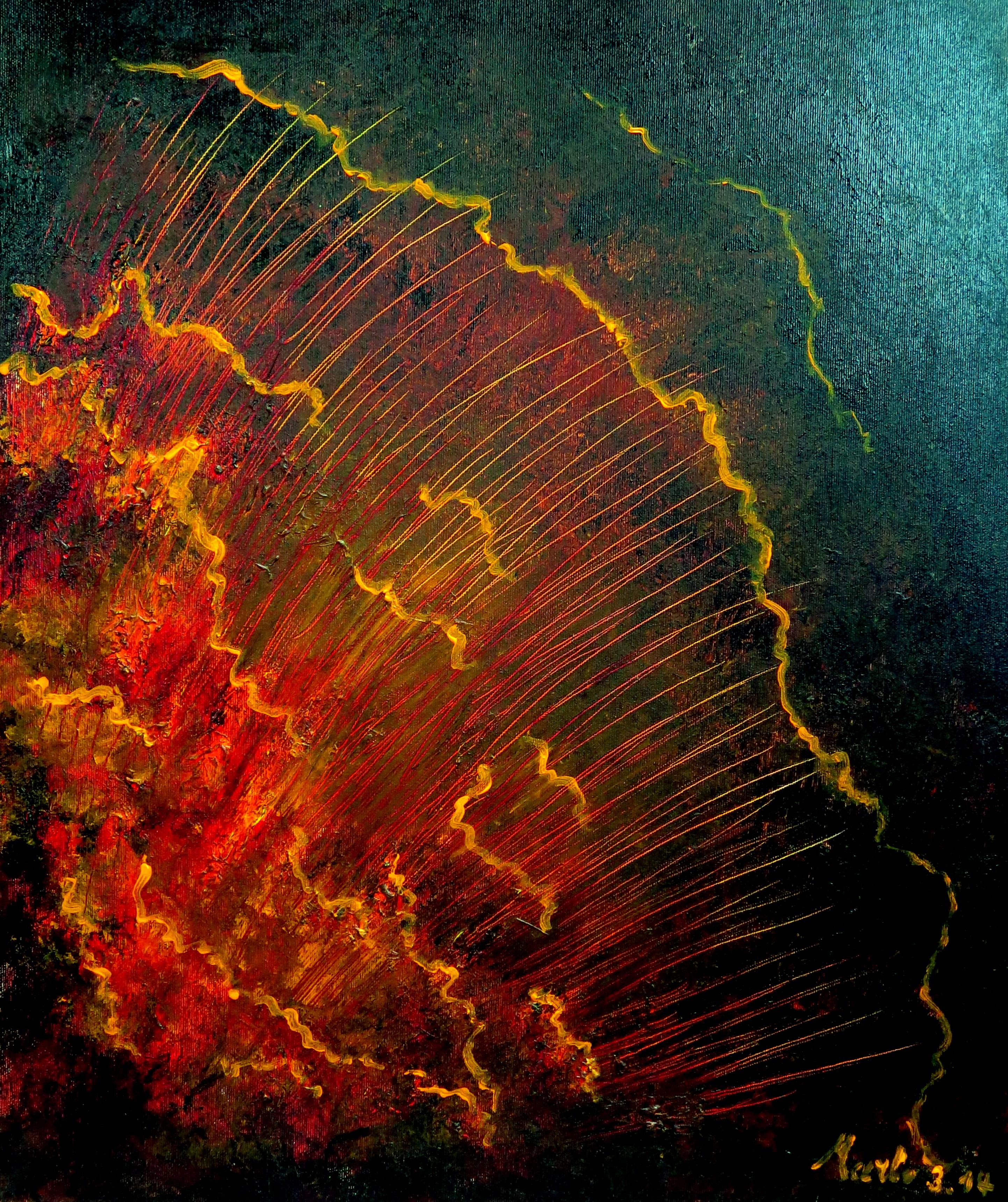 Caling you, Huile/acrylique, 60/50cm.05.02.2014-60-50cm