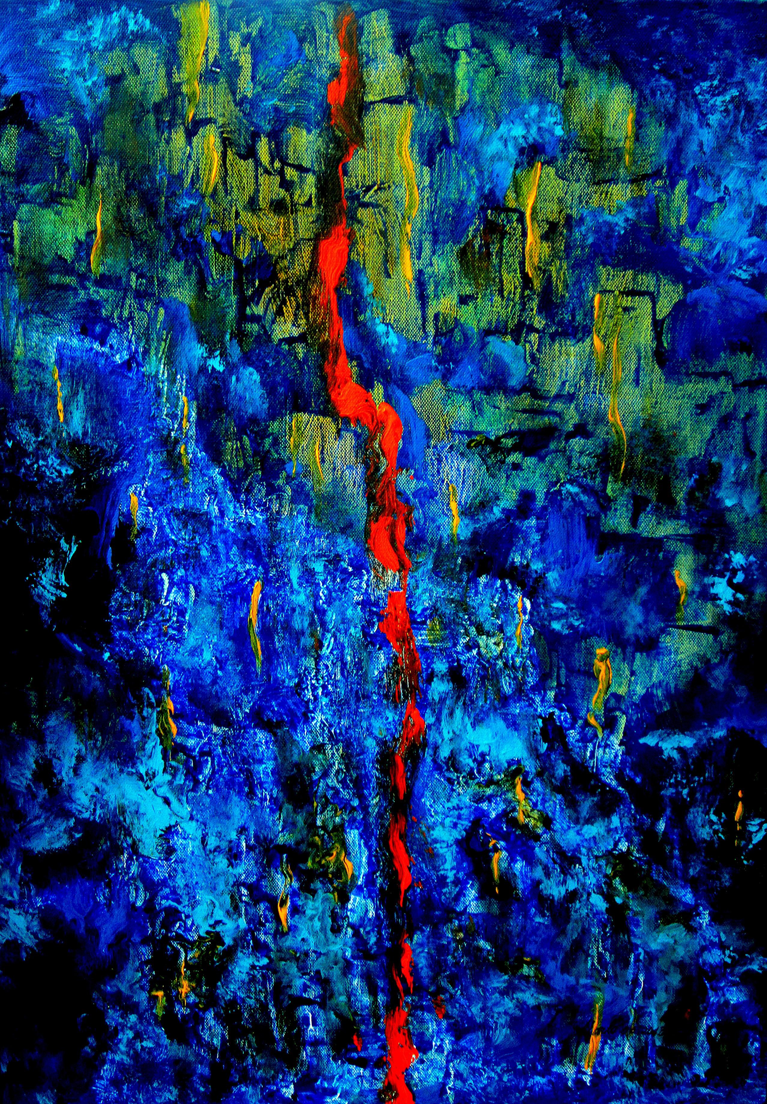 La ligne rouge, acrylique 70/50cm. 05.06.2013