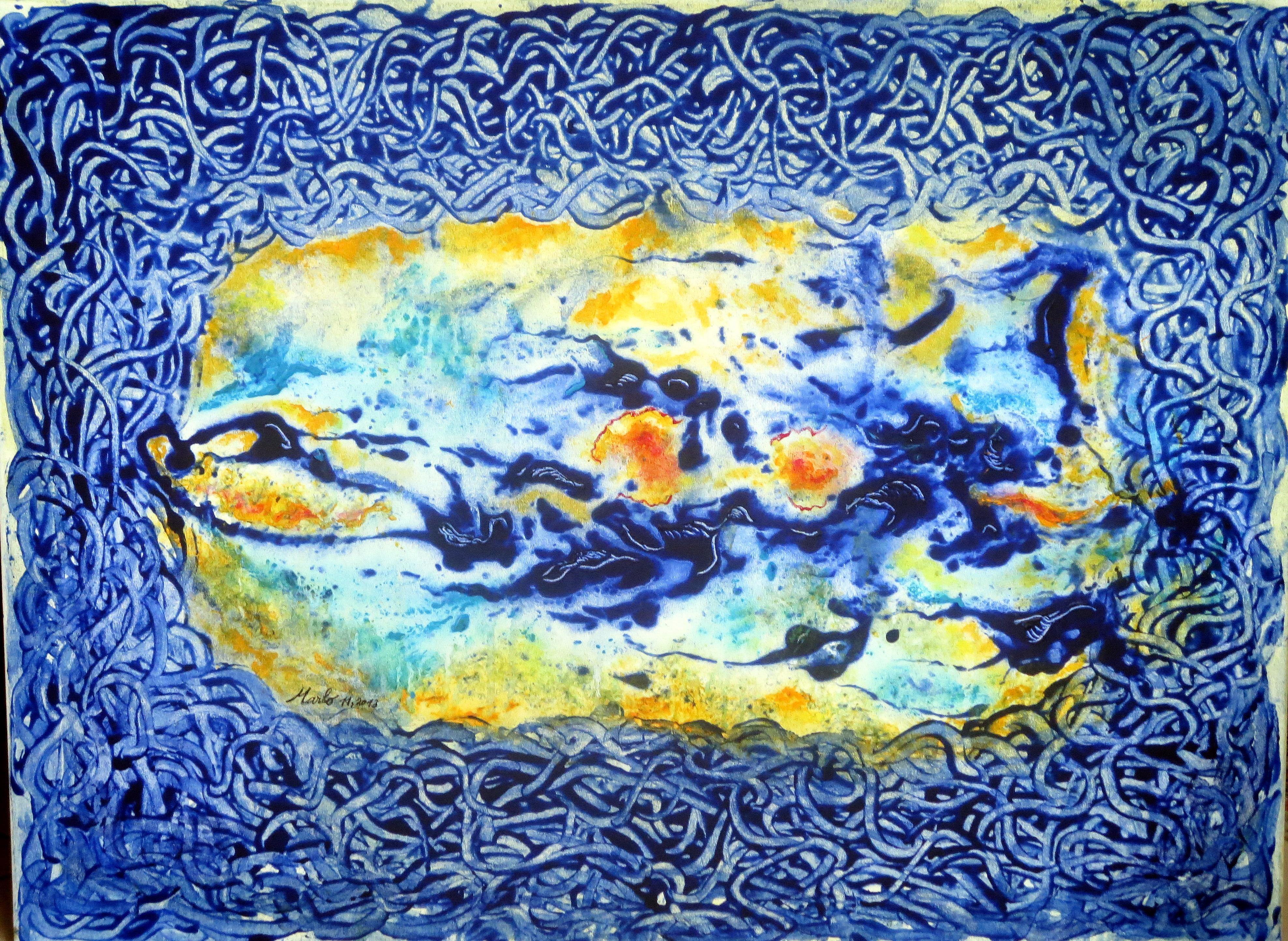 Matrice aqueuse. Acrylique, 11, 201313