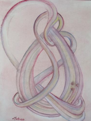 Embrasses-moi. The Embrace huile sur papier toilé 30/40cm