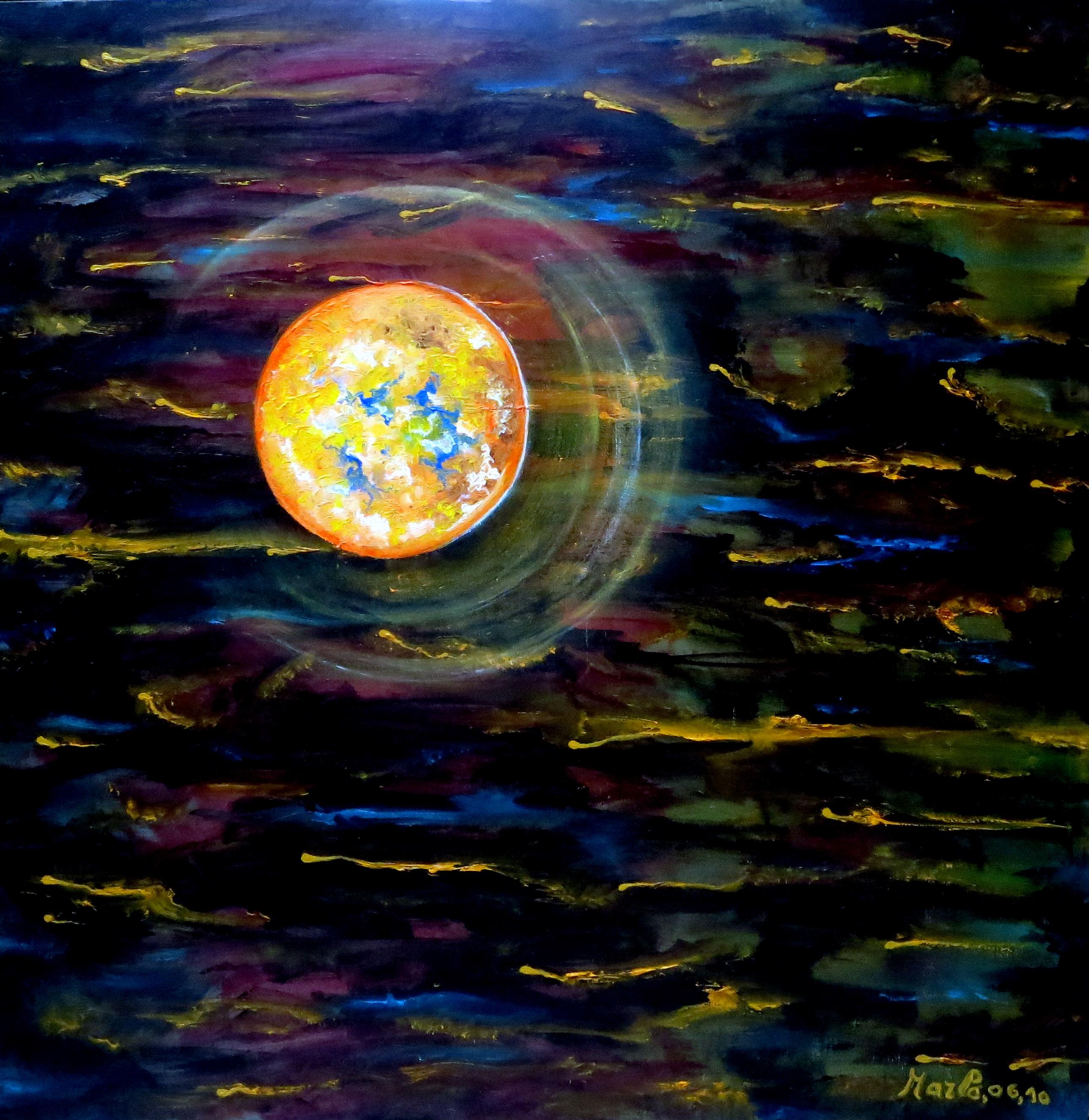 Exoplanete X, Huile et acrylique; 1m-1m. 01-2014