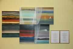 """Exposition Milan, ArtMeet. 04.07-04..08.2023 Une journée par la fenêtre avec une poésie """"Venezia"""""""