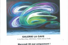 Exposition-Récital LA CAVE, Vieille Ville Genève. 28.05.2013