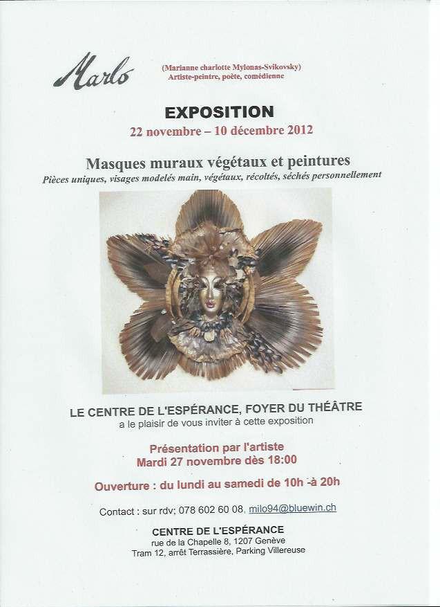 Exposition Masques no-déc 2012