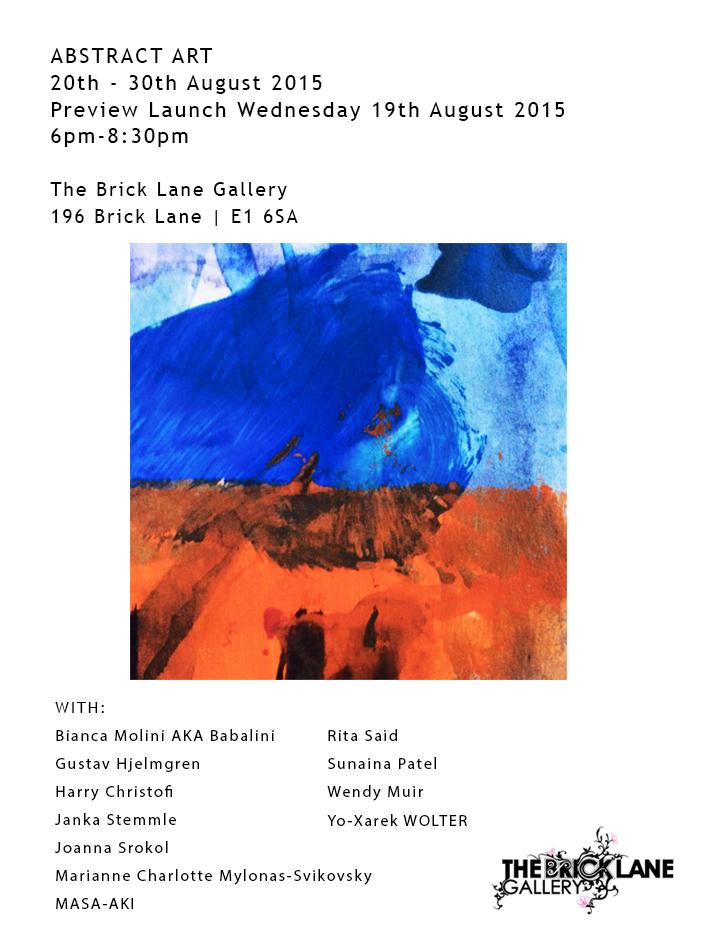 Exposition Brick lane Gallery London, 20-20.8.2015