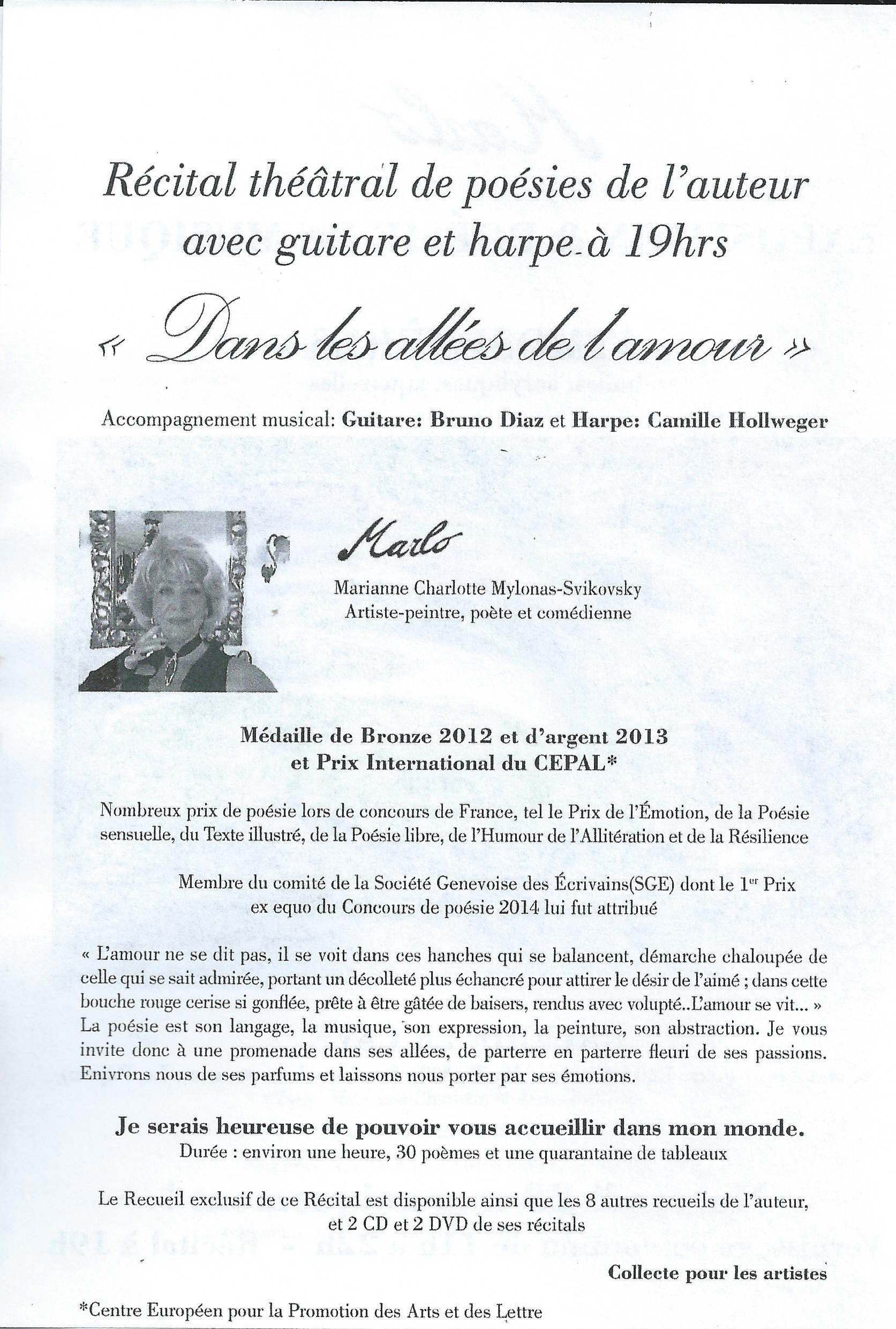 Récital La Cave. 28.03.2014