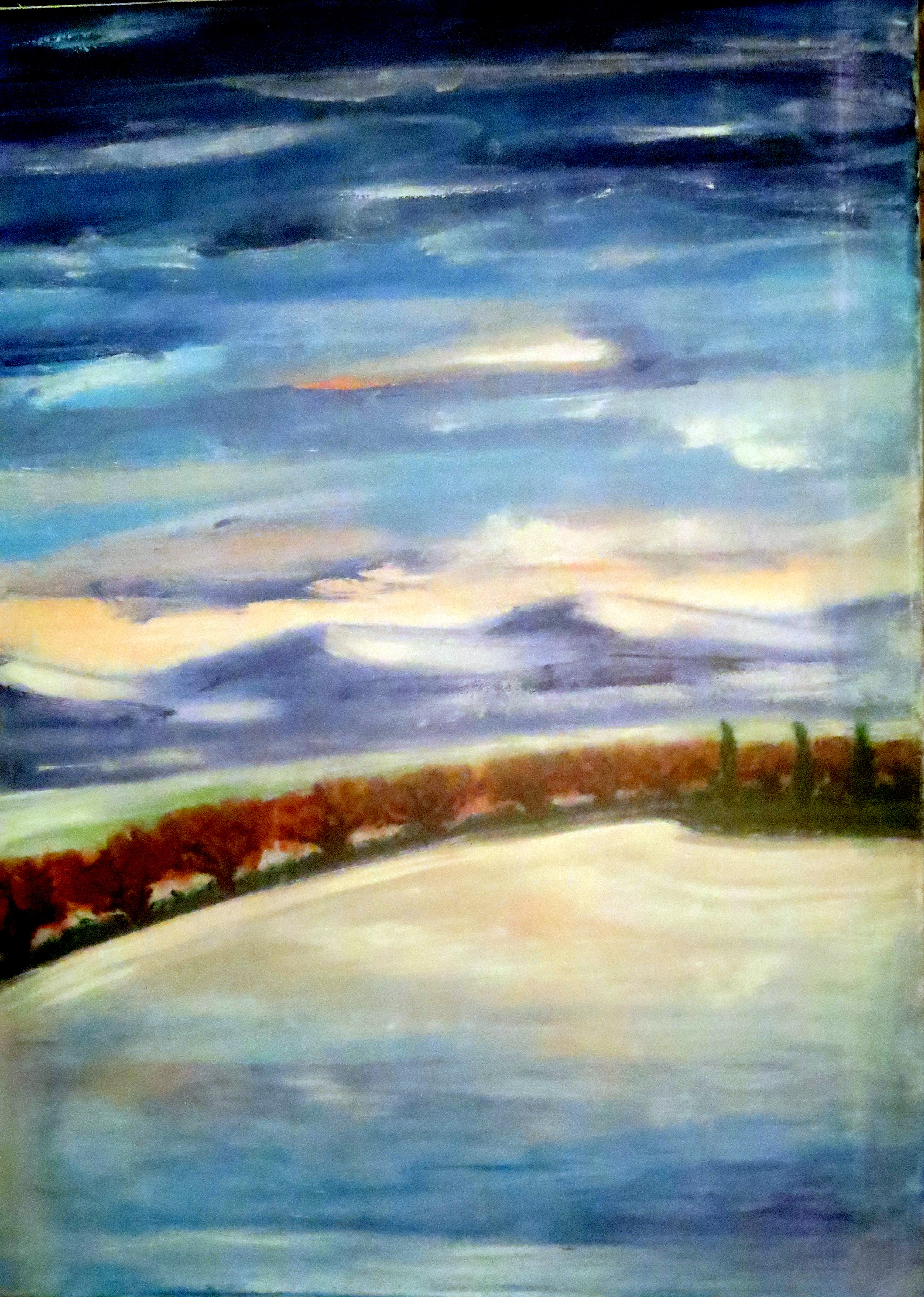 Dernières lueurs d'automne, acrylique 80 x 60 cm. 11.02.2017