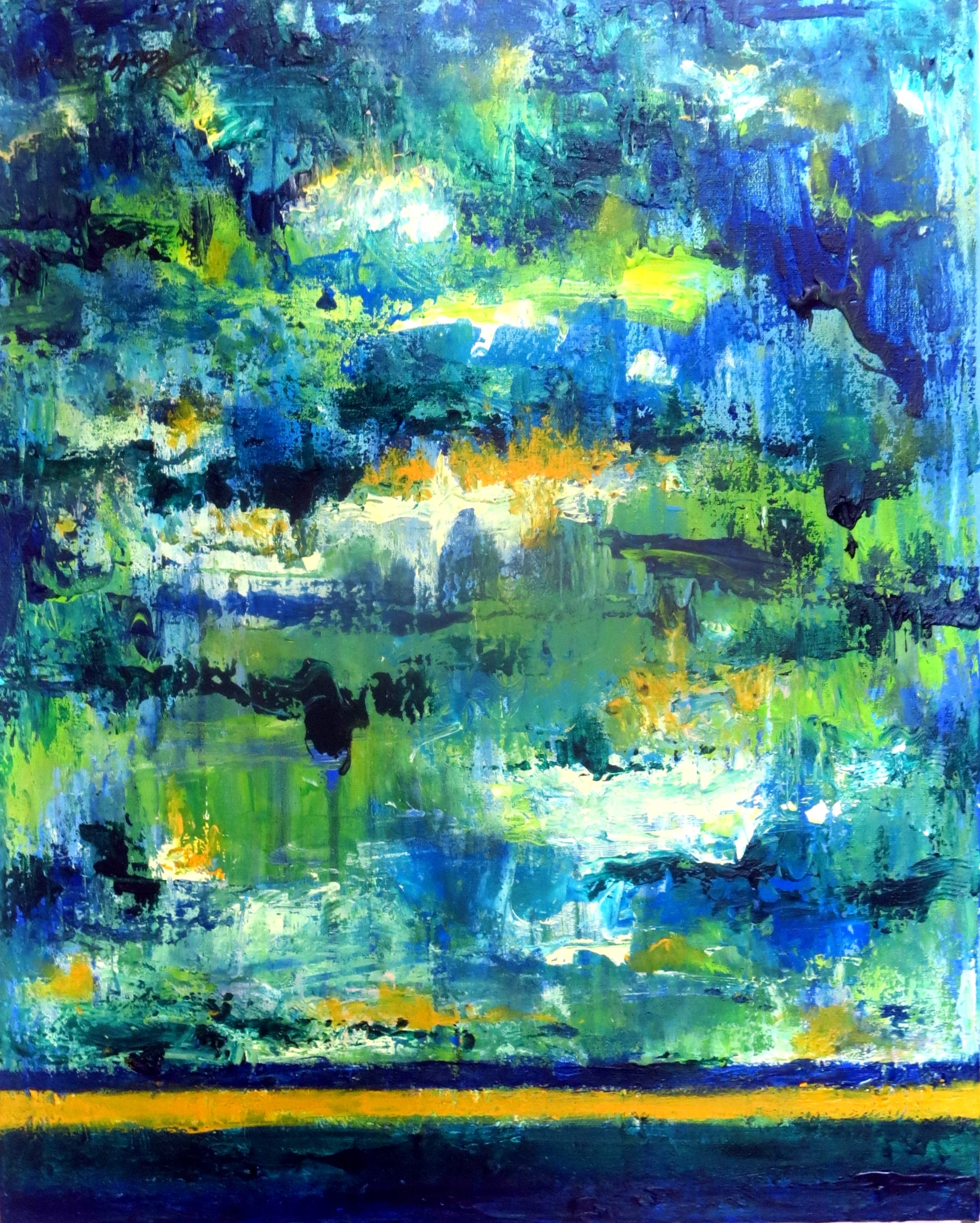 In the green, acrylique, 04.04.2016. 50-40 cm