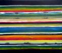Color vibration scheme 1. Acrylic on canvas 80 cm W x 60 cm H. 12-2018