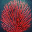 Le buisson ardent - M0ïse. Acrylic on canvas, 60 cm x 60 cm. 09.10.2019