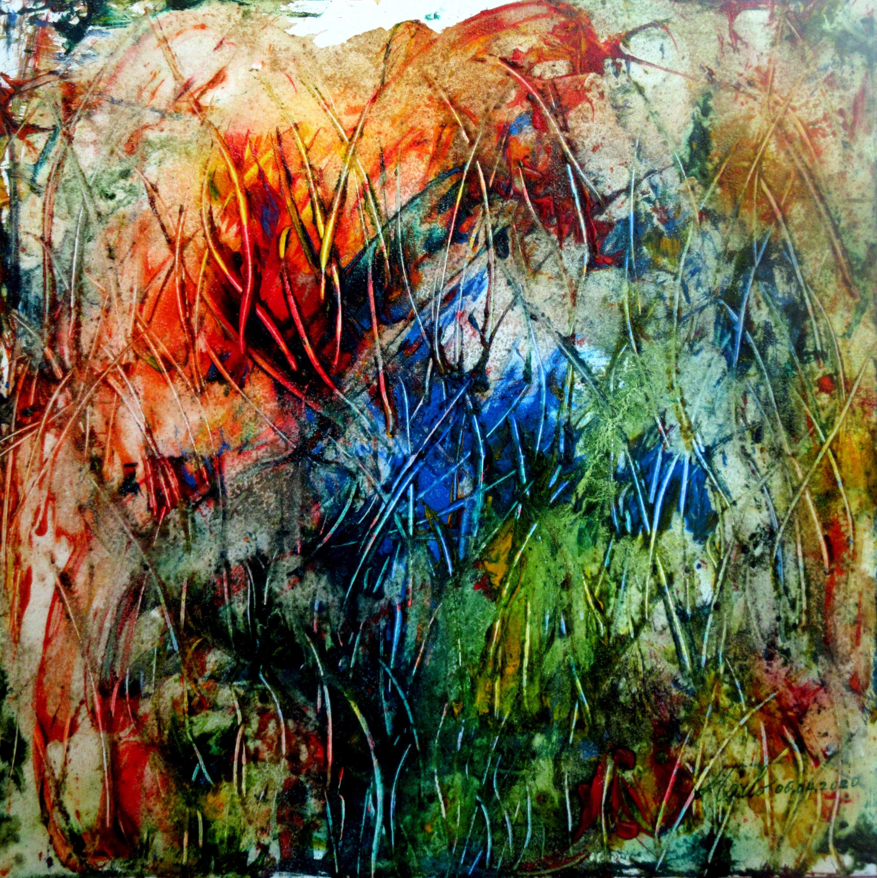 CORONAVIRUS...THE REVIVAL ... after. 06.04.2020,  Acrylic on canvas. 70 cm x 70 cm x 2 cmD