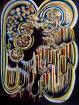 BACK TO WORK - CORONA 60 cm W x 2 cm D. 07.2020. 80 cm H x 60 cm W. x 2 cm D. Acrylic on canvas
