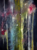 Looking at Infinity - Guardando l'Infinito nel cielo notturno. Acrylic on canvas. 80 cm H x 60 m W x 2 cm D. 01.2020