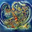 MyCorona virus story . CHAOS in our world. Acrylic on canvas- 12.2020