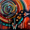 .The Corona virus. Acrylic on canvas. 70 cm x 70 cm 03.2020