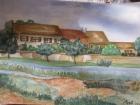 Petit village au bord de l'eau 22/32cm