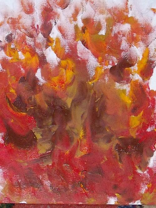 Braises 38/46cm peint avec les paumes