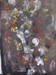 Le Passage -Crossing over 80/1m Emotional Action Painting - Footprints 1m/80cm