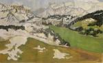 La montagne vers Megève
