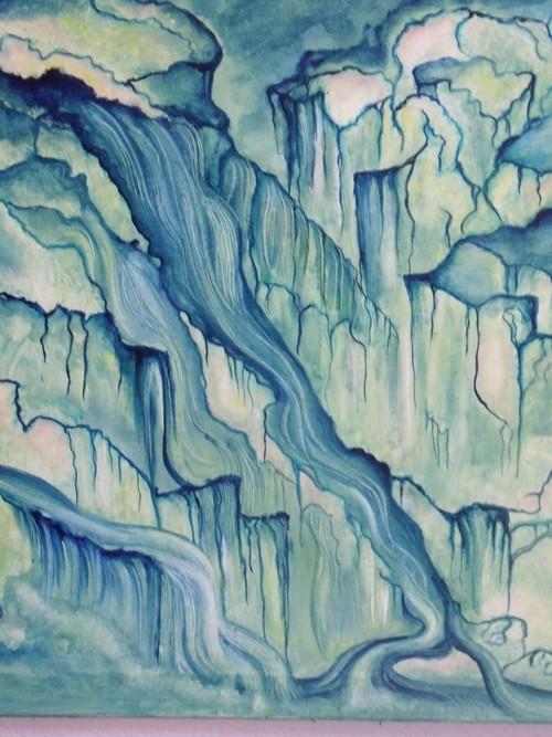 Running waters; Coulées d\'eau, détail