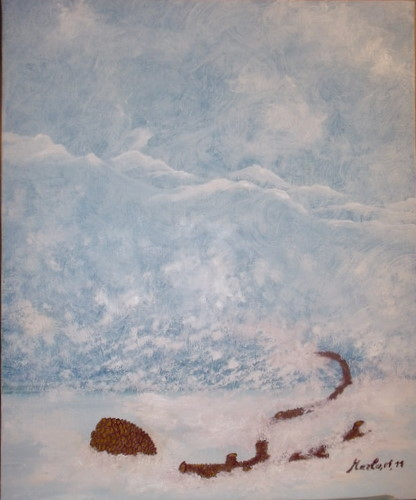 Snowy days . Journées enneigées 65/50cm