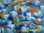 Cascades gelées sous le soleil 40/50cm