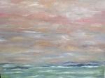 Embrasement du ciel, détail - les îles 80/80 cm