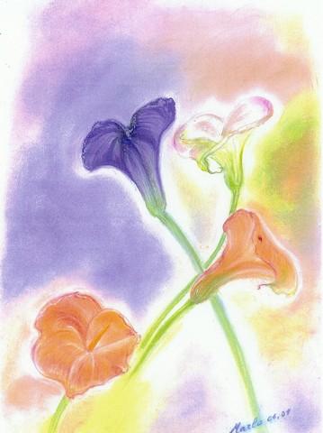 Fleurs, pastel