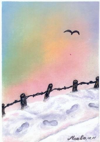 Promenade d\'hiver, pastel