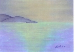 Soir sur la mer, pastel