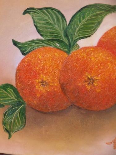 Trois oranges détail
