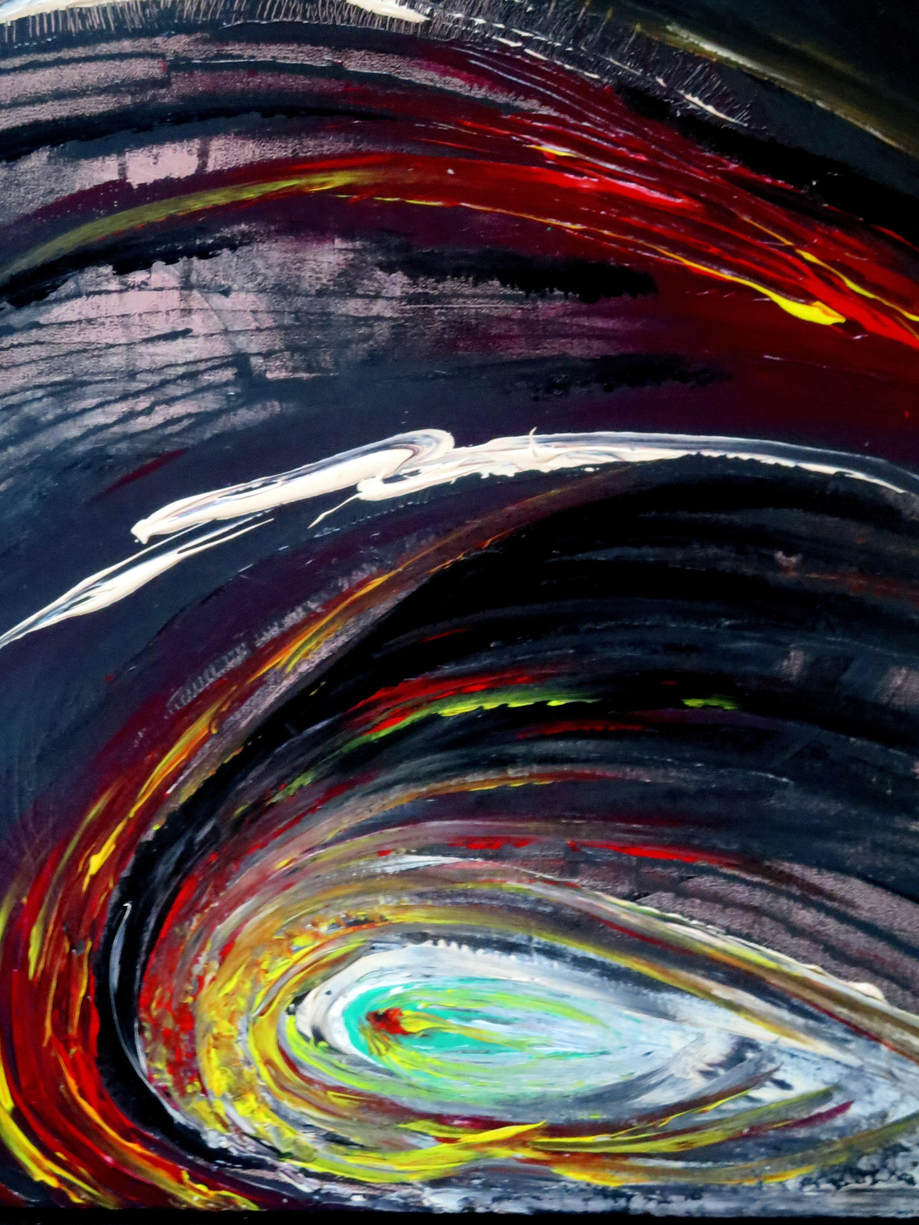 Dans loeil du cyclone acrylique 01.2011-50-60cm