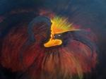 Mythologie-transmission. 11.2013 acrylique 60/50 cm